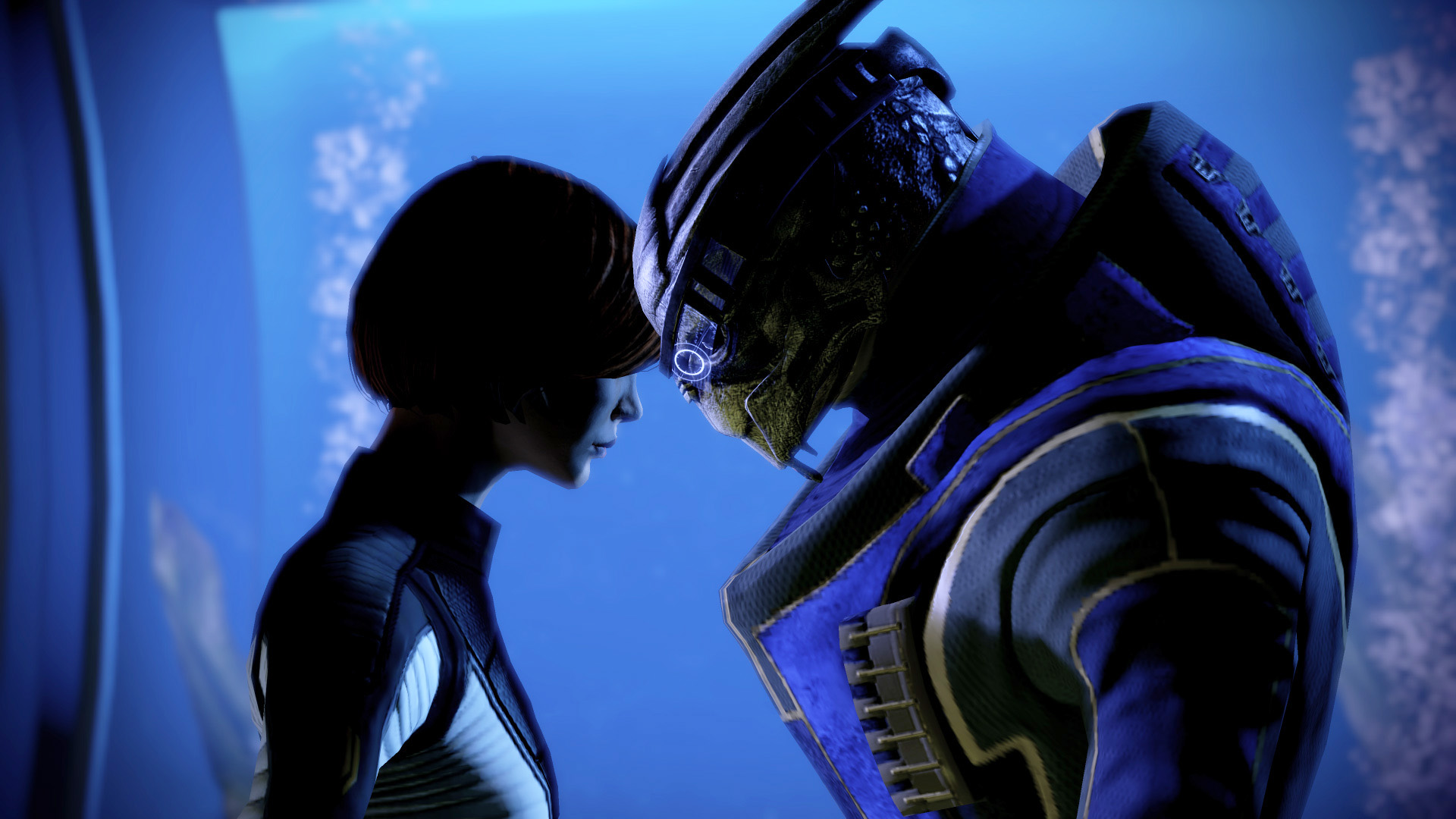 Me3 Femshep Engineer Ending With Liara And Garrus Garrus Romance